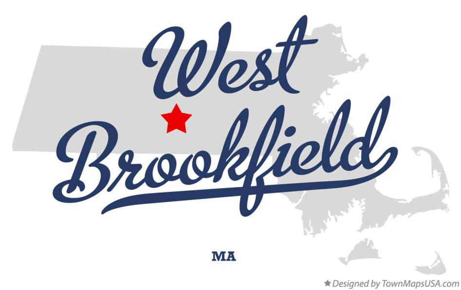 Map of West Brookfield Massachusetts MA