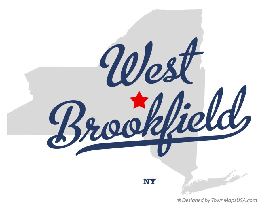 Map of West Brookfield New York NY