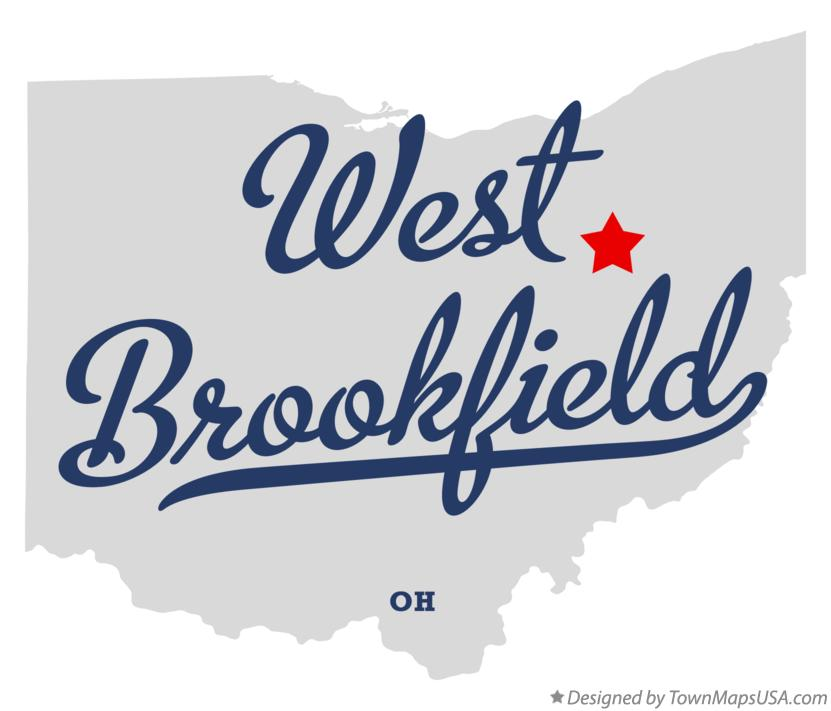 Map of West Brookfield Ohio OH