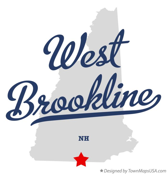 Map of West Brookline New Hampshire NH