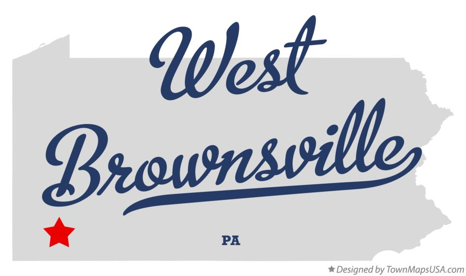 Map of West Brownsville Pennsylvania PA