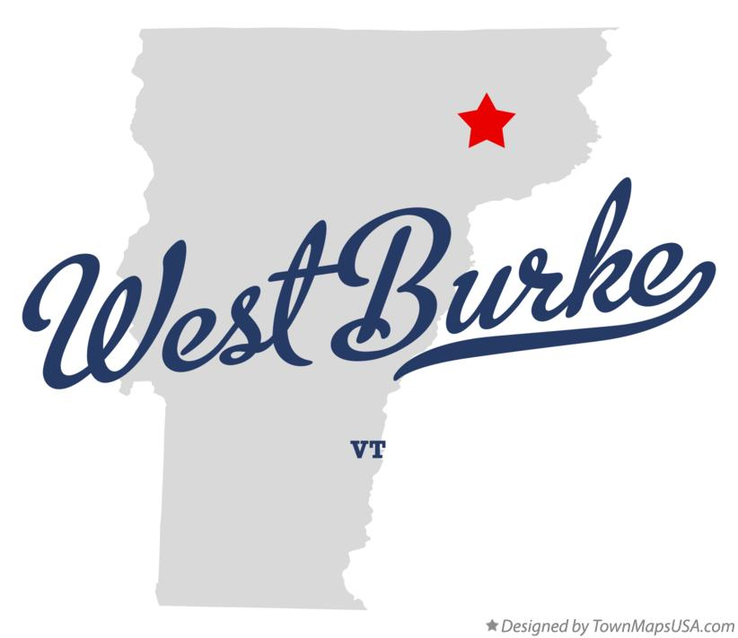 Map of West Burke Vermont VT