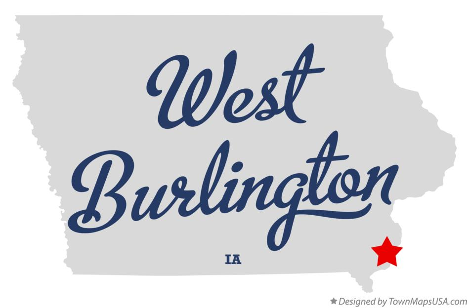Map of West Burlington Iowa IA
