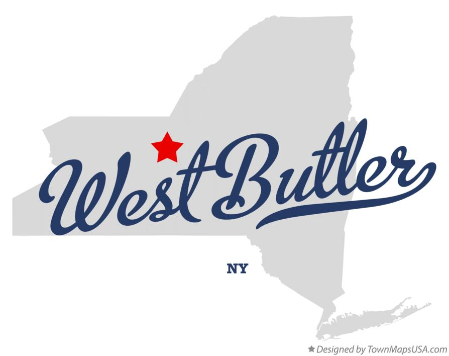 Map of West Butler New York NY