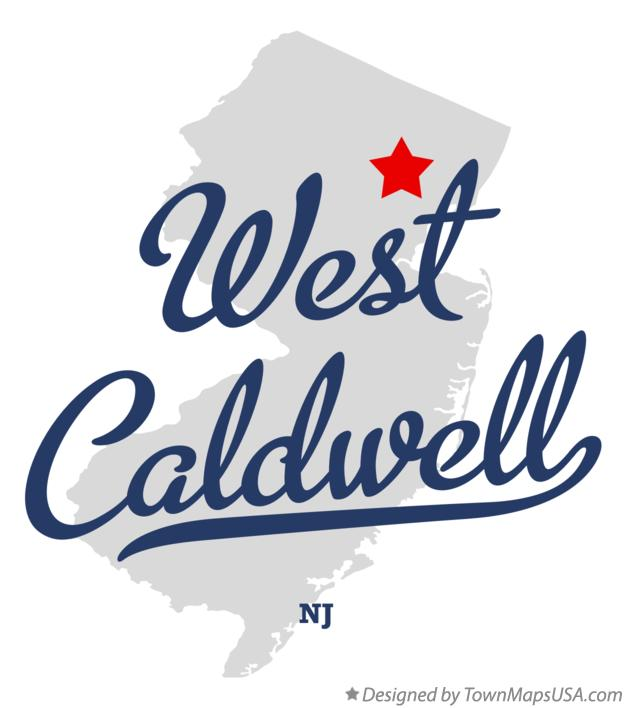Map of West Caldwell New Jersey NJ