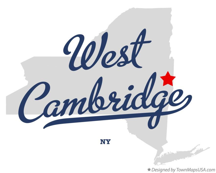 Map of West Cambridge New York NY