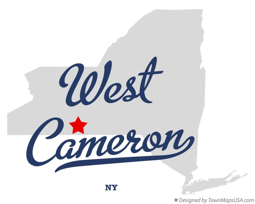 Map of West Cameron New York NY