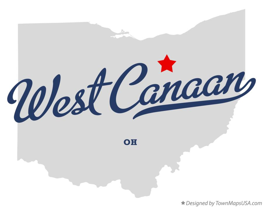 Map of West Canaan Ohio OH