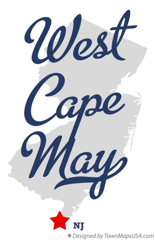 Map of West Cape May New Jersey NJ