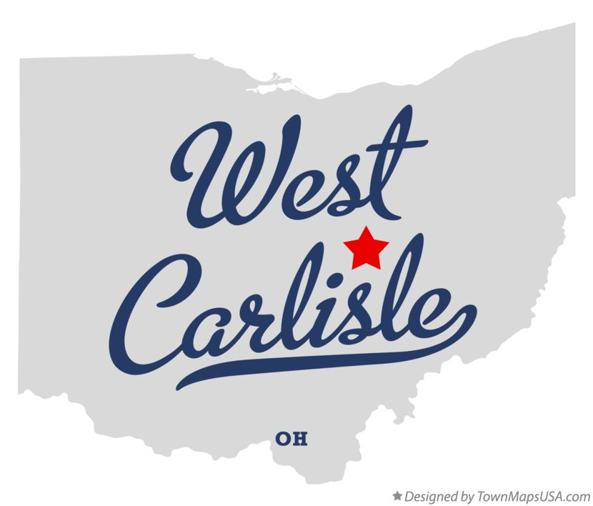 Map of West Carlisle Ohio OH