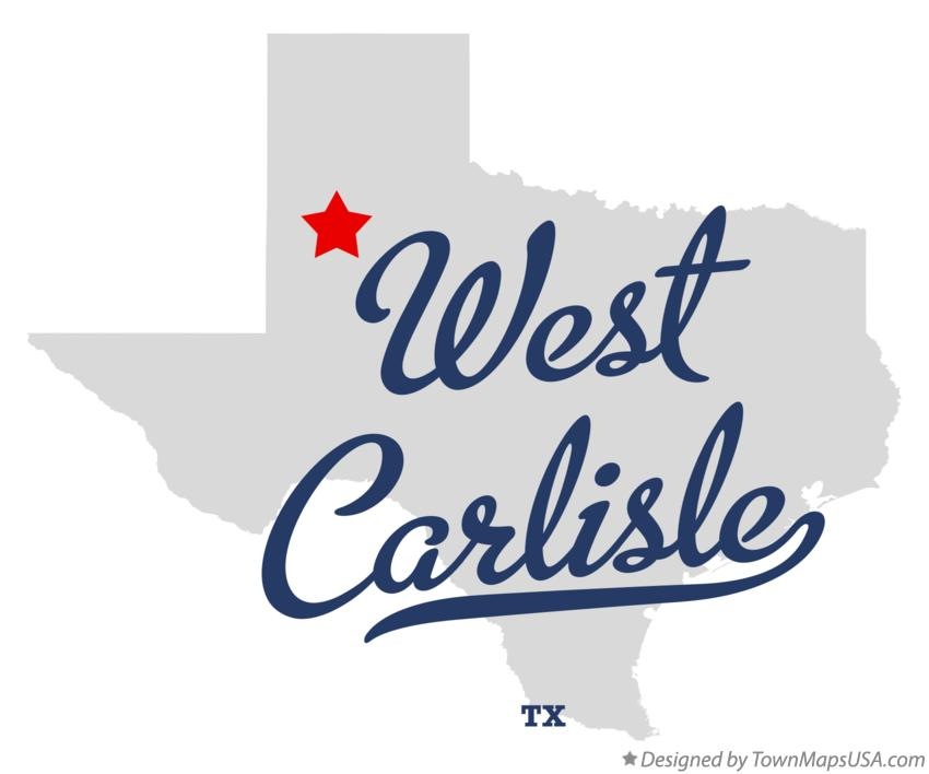 Map of West Carlisle Texas TX
