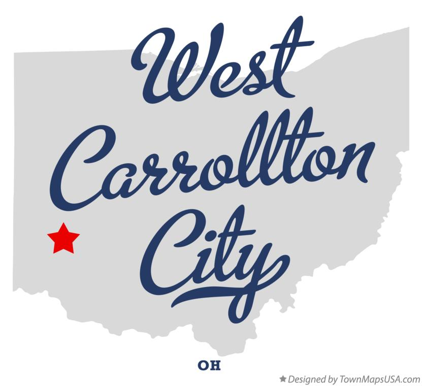 Map of West Carrollton City Ohio OH