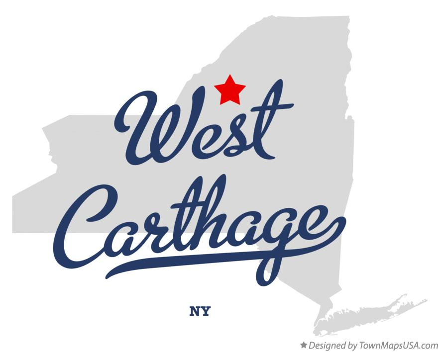 Map of West Carthage New York NY