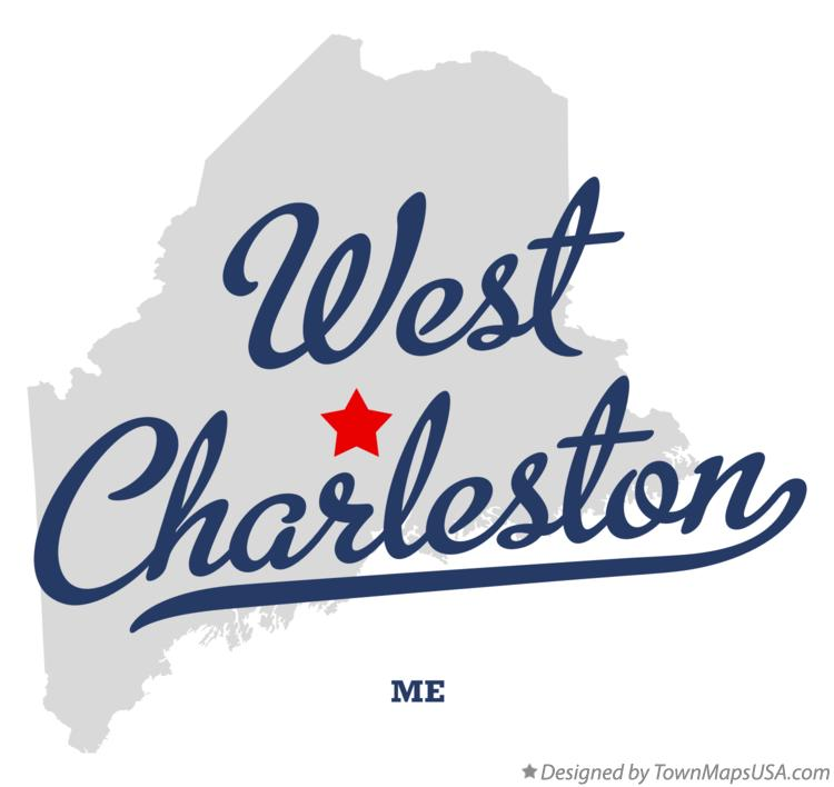 Map of West Charleston Maine ME