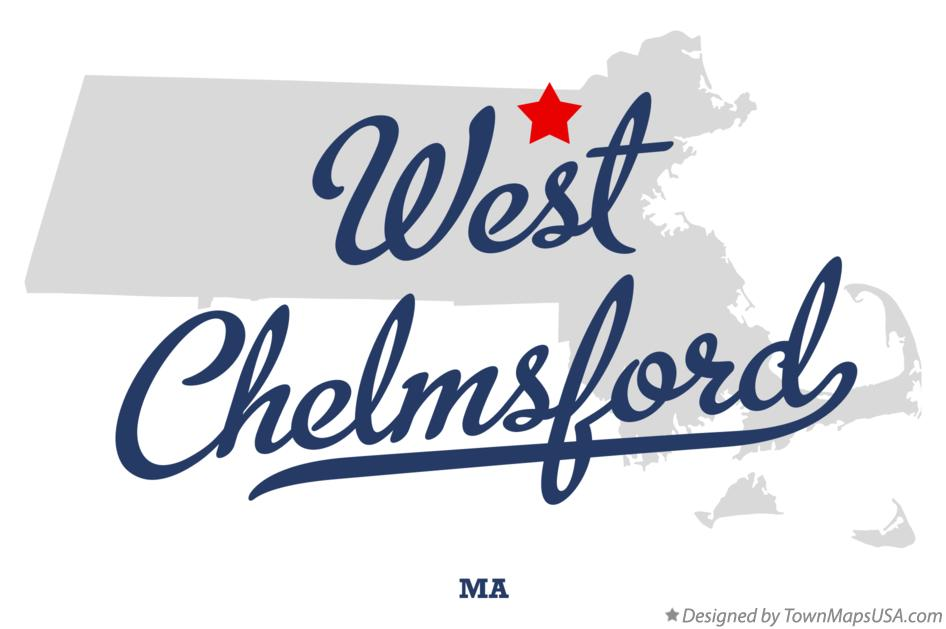 Map of West Chelmsford Massachusetts MA