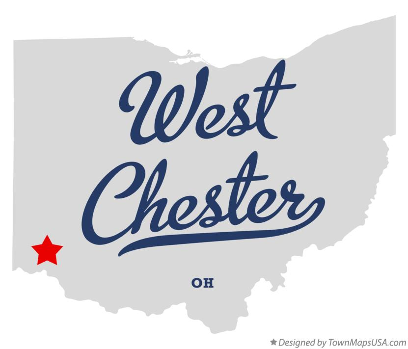 Map of West Chester Ohio OH