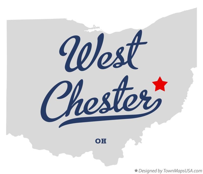 Map Of West Chester Tuscarawas County Oh Ohio