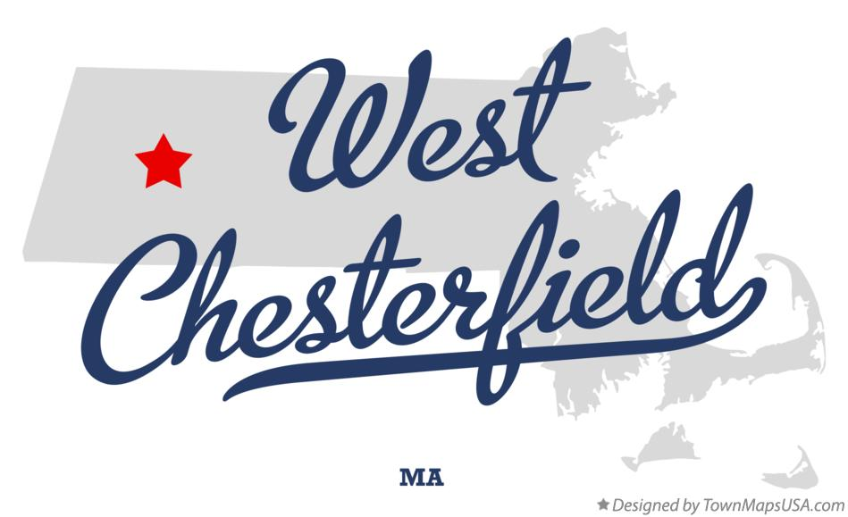 Map of West Chesterfield Massachusetts MA
