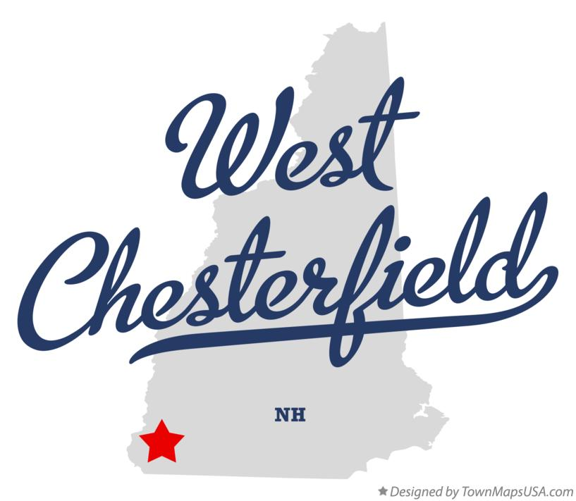 Map of West Chesterfield New Hampshire NH