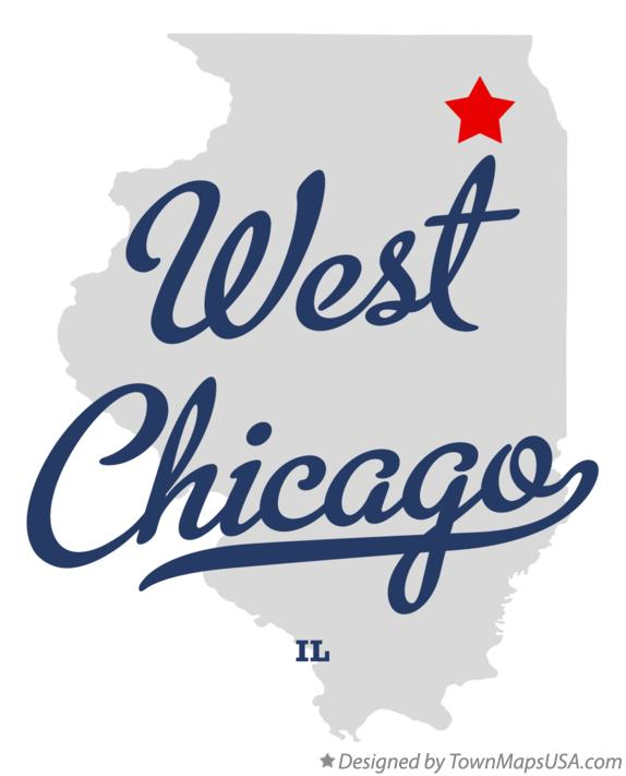 Map Of West Chicago Il Illinois