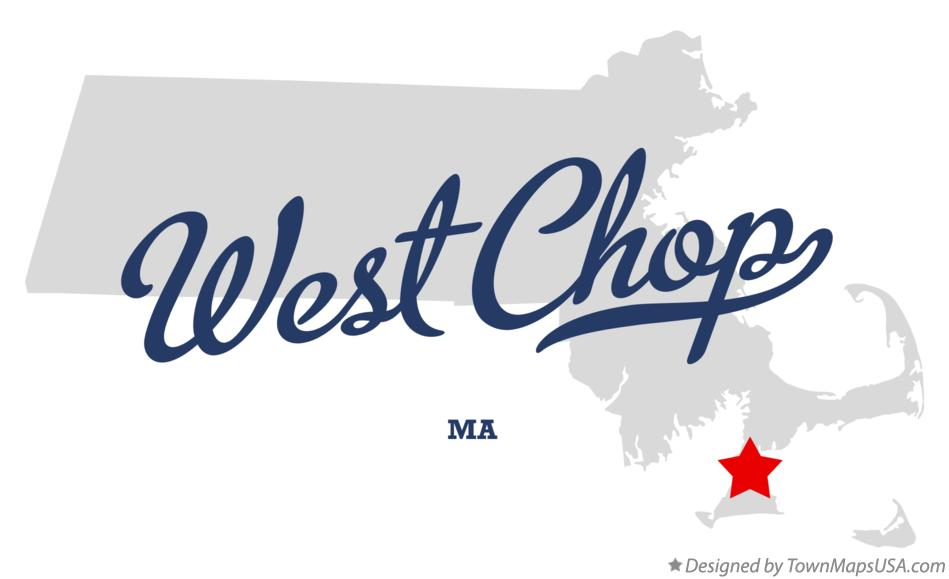 Map of West Chop Massachusetts MA