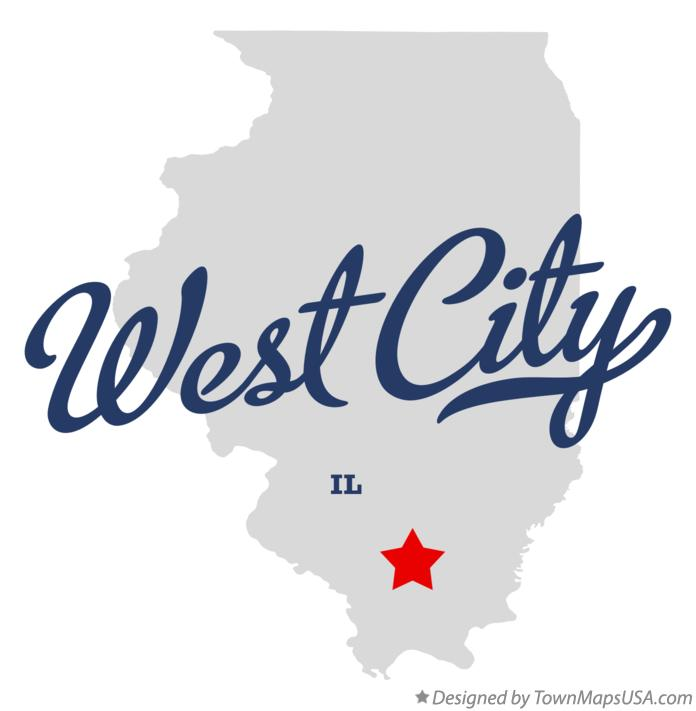 Map of West City Illinois IL