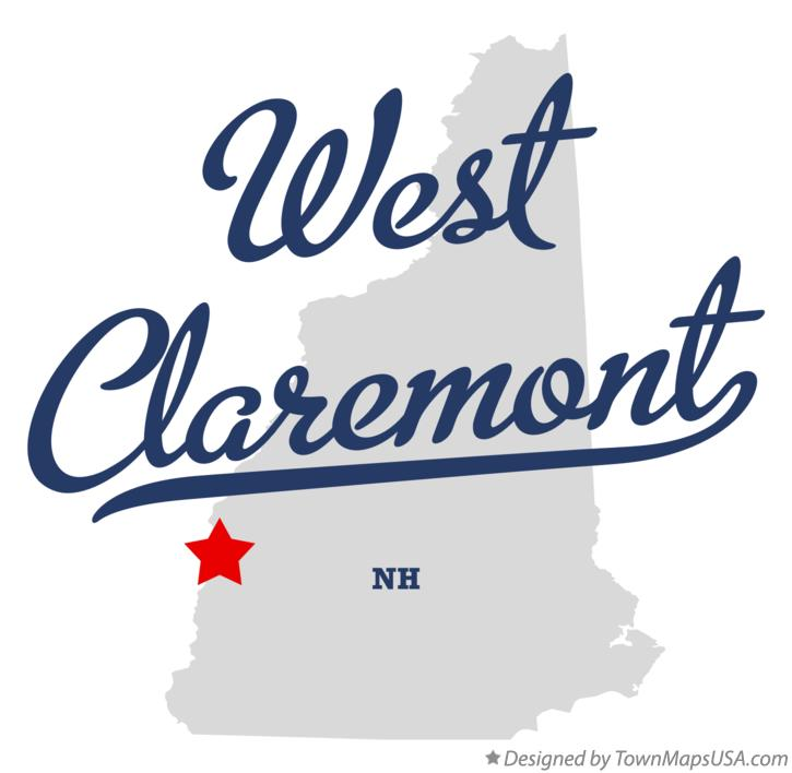 Map of West Claremont New Hampshire NH
