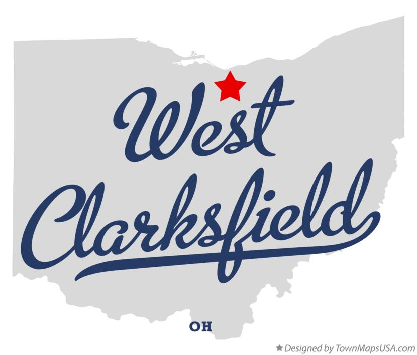 Map of West Clarksfield Ohio OH