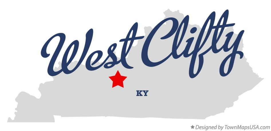 Map of West Clifty Kentucky KY