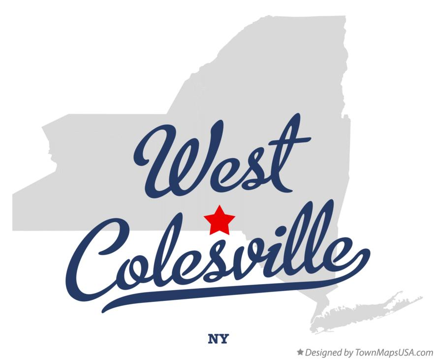 Map of West Colesville New York NY