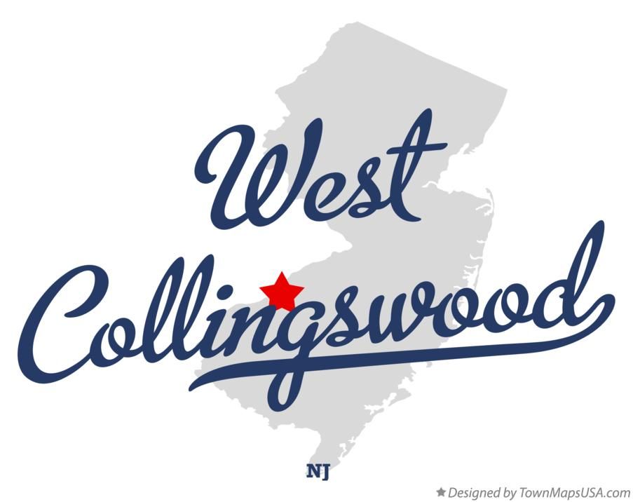 Map of West Collingswood New Jersey NJ