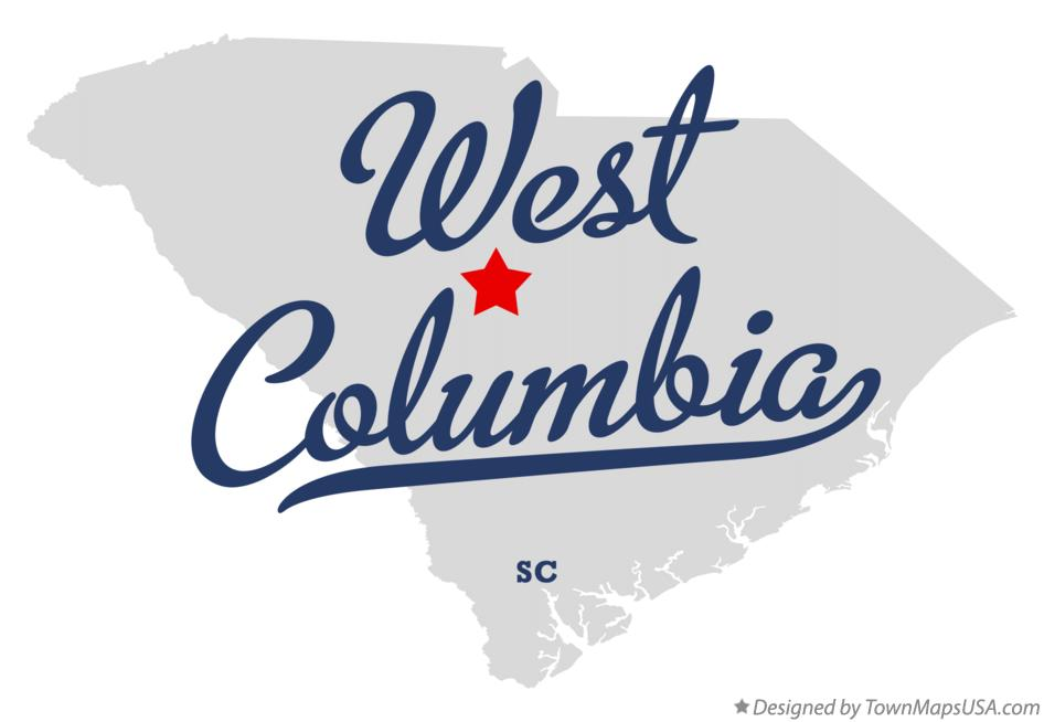 Map of West Columbia South Carolina SC