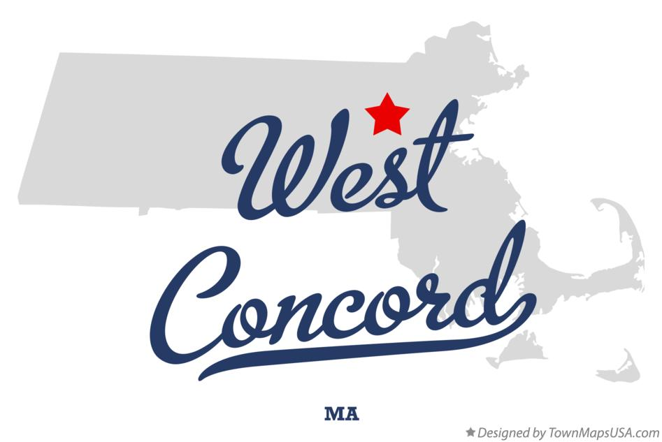 Map of West Concord Massachusetts MA