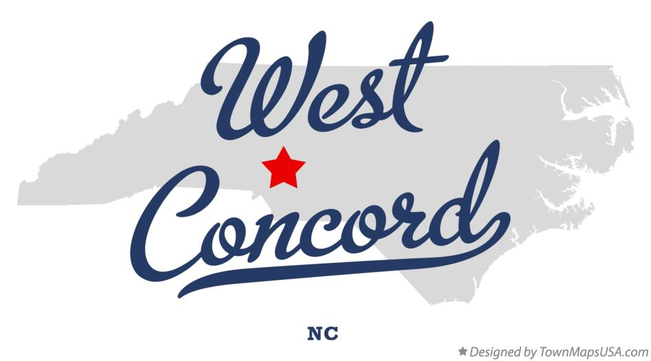 Map of West Concord North Carolina NC