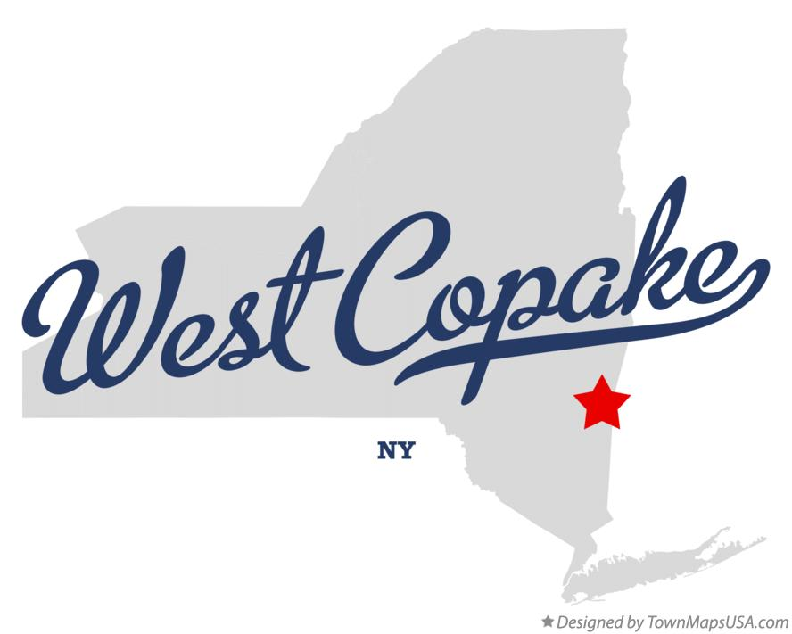 Map of West Copake New York NY