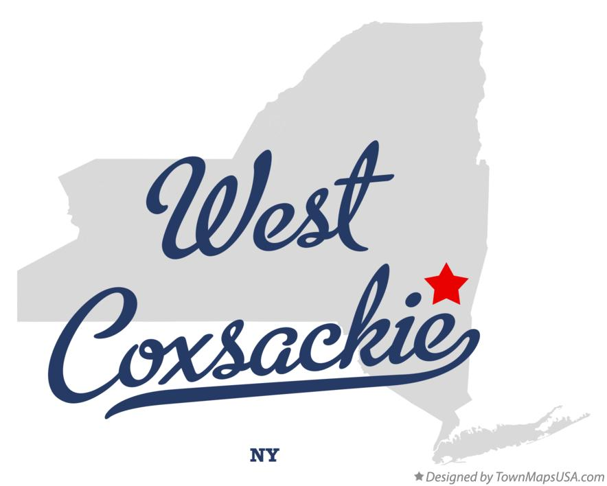 Map of West Coxsackie New York NY