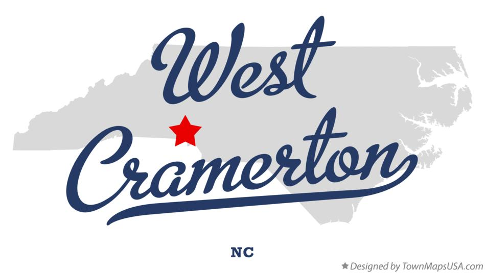Map of West Cramerton North Carolina NC