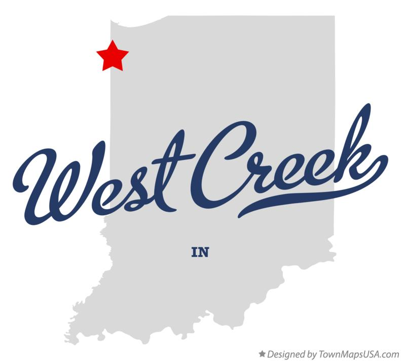 Map of West Creek Indiana IN