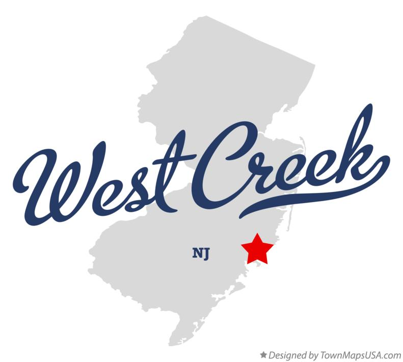 Map of West Creek New Jersey NJ