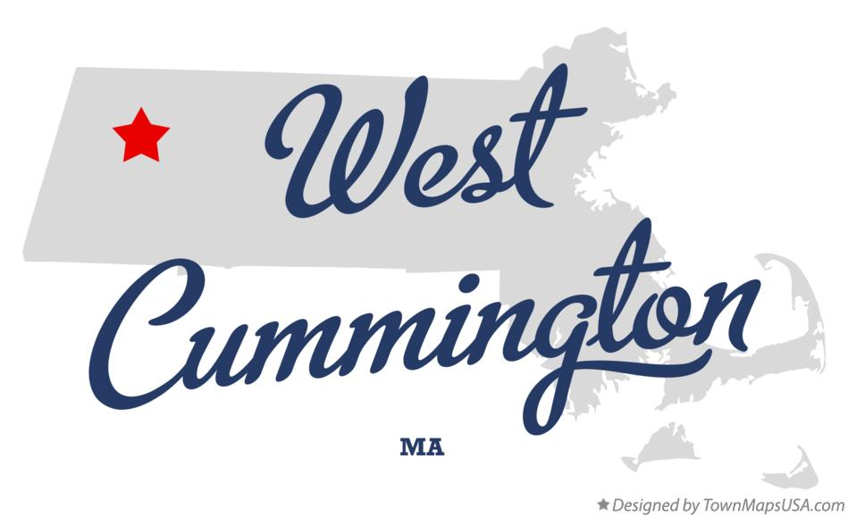Map of West Cummington Massachusetts MA