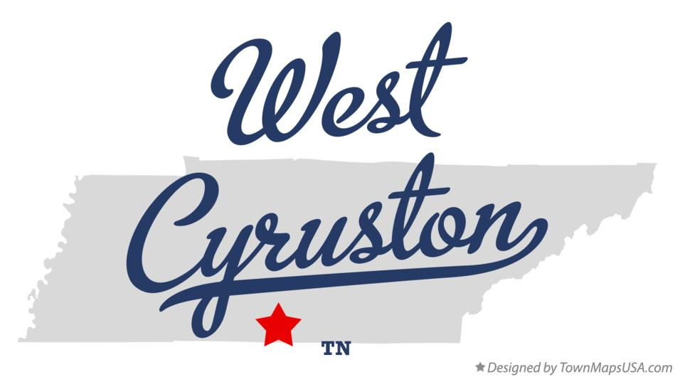 Map of West Cyruston Tennessee TN