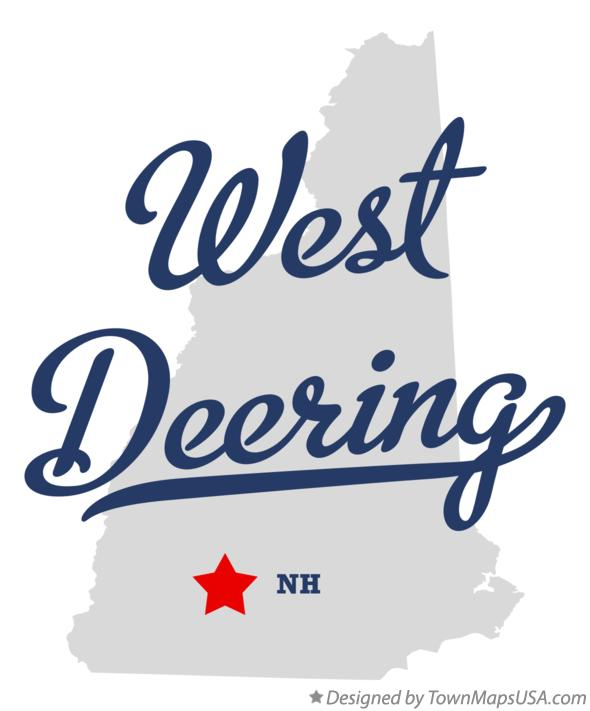 Map of West Deering New Hampshire NH