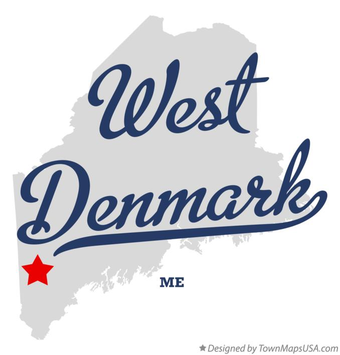 Map of West Denmark Maine ME