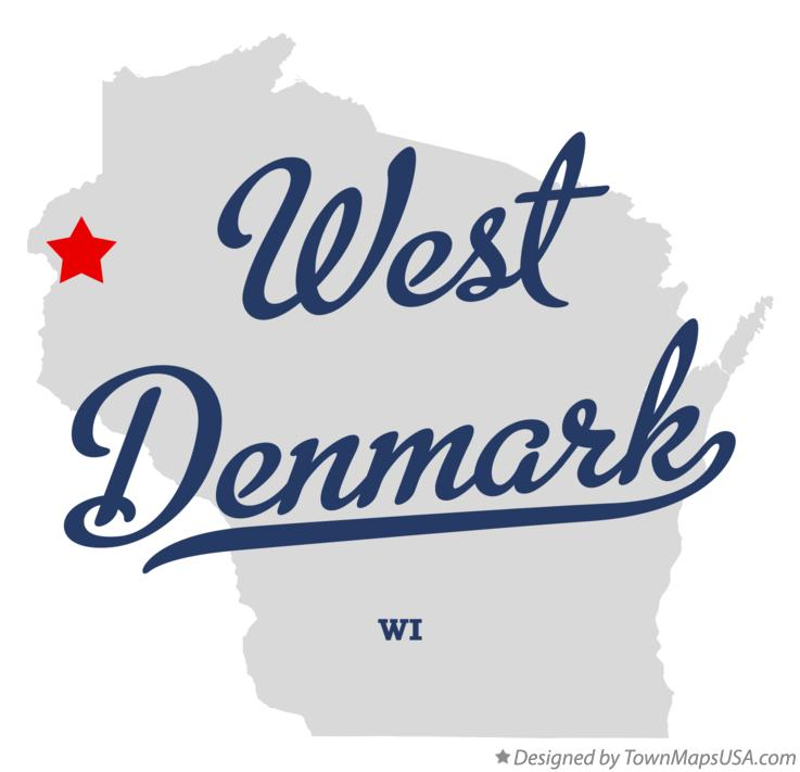 Map of West Denmark Wisconsin WI