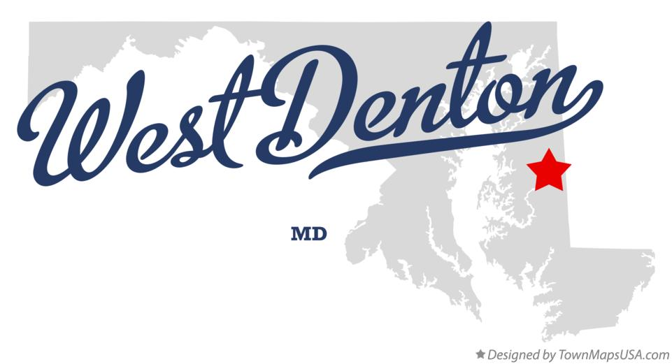 Map of West Denton Maryland MD