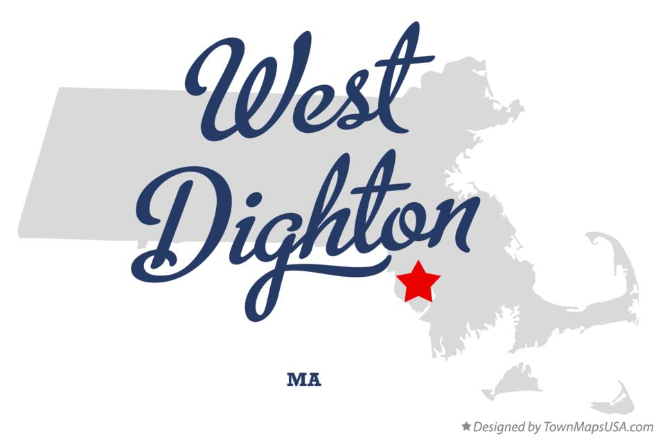 Map of West Dighton Massachusetts MA