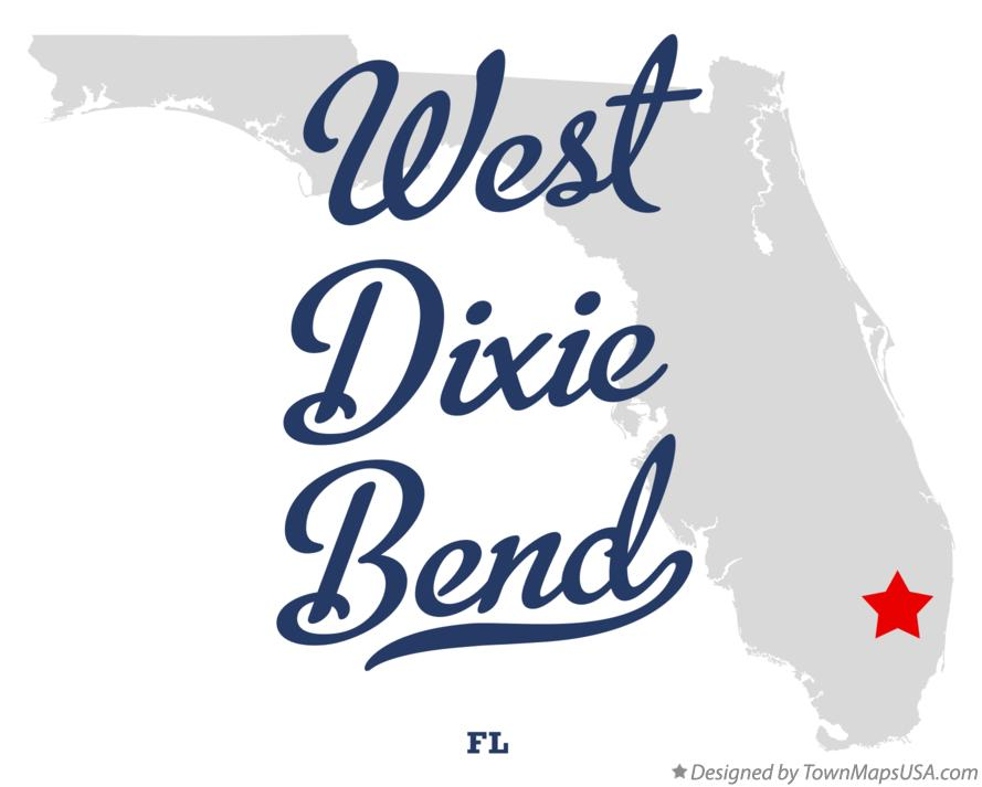 Map of West Dixie Bend Florida FL