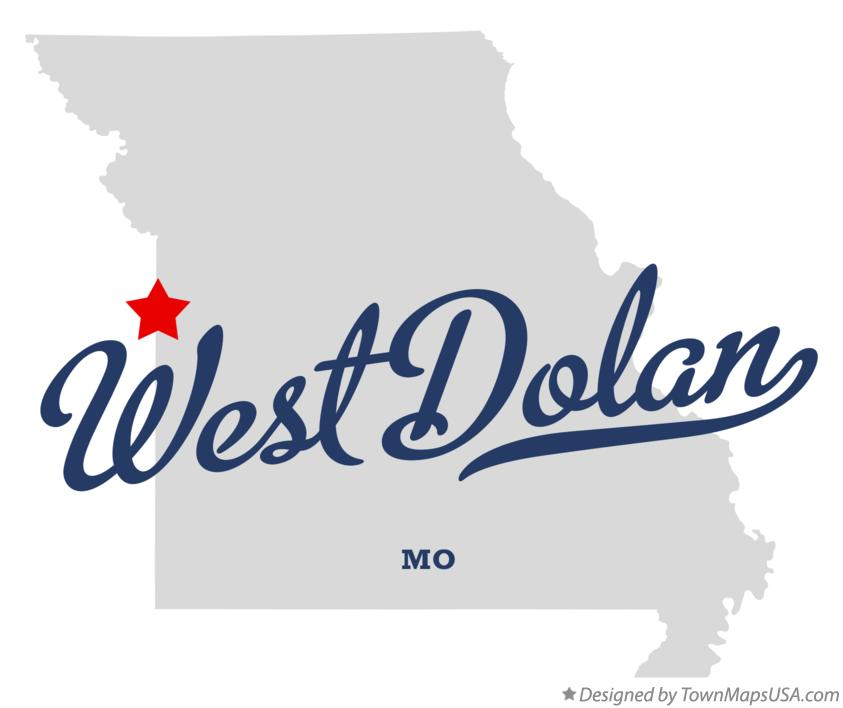 Map of West Dolan Missouri MO