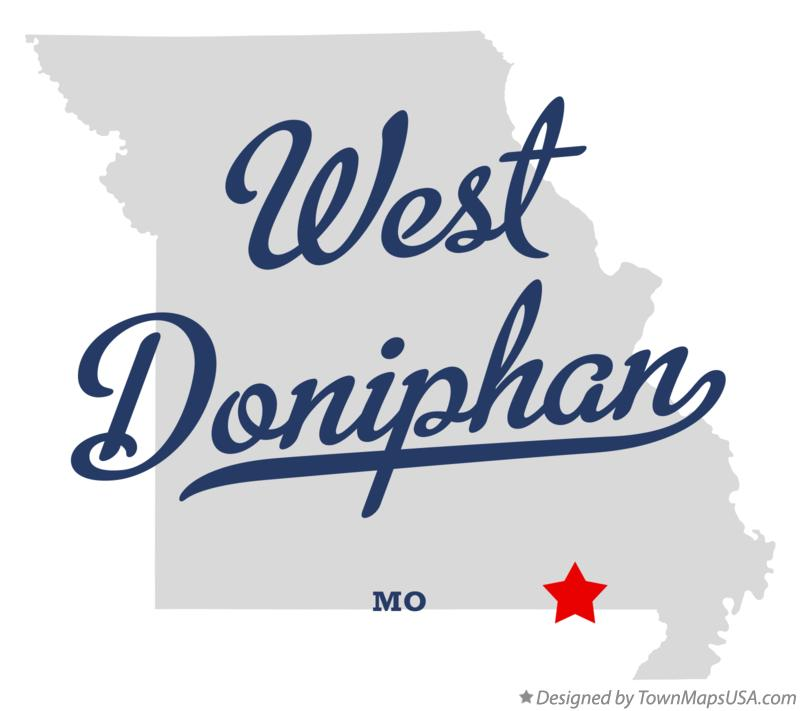 Map of West Doniphan Missouri MO