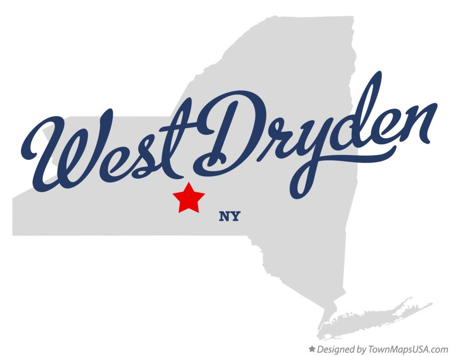 Map of West Dryden New York NY